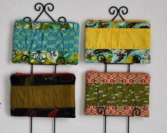 Small Zippered Clutch with Ruching in a Cheerful Fabric! Limited Quantities Remaining Collection