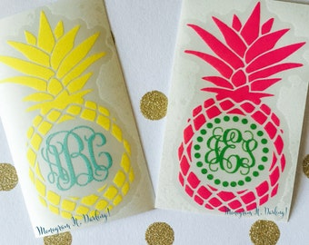 Pineapple Monogram - many styles and colors!