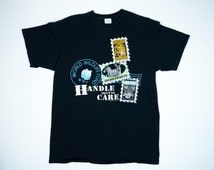 90s WWF Shirt XL - World Wildlife Fund Tshirt Extra Large - Vintage WWF T-shirt Endangered Animals - Lion Zebra Snow Leopard Stamps Design