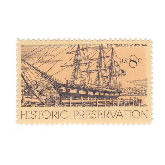1971 8c Historic Preservation Series The on Historic Preservation Stamp 1971