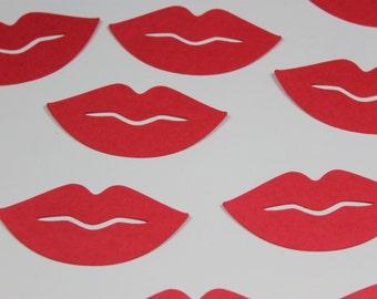 Red Lip Die Cut Confetti