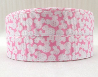 """Minnie Mouse Ears print 25mm 1""""  ribbon Grosgrain Ribbon Cake Decoration Hairbows Birthday Presents Scrapbooking Clips and Bows"""