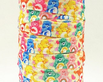 Care Bears 5/8 inch 16mm FOE Elastic for hair ties  headbands Wristbands Hair Ties