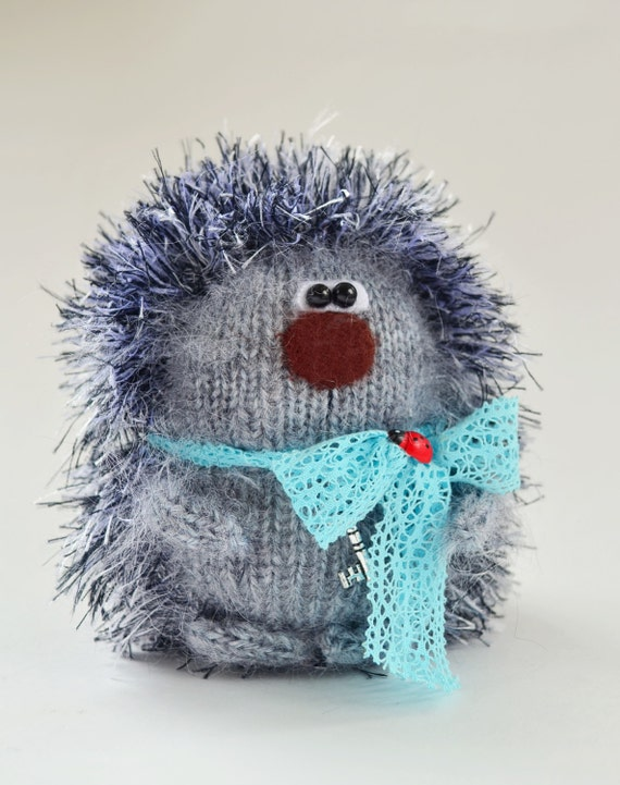 Stuffed Hedgehog Knitting Pattern : Hedgehog Amigurumi Toy Stuffed Fluffy Hedgehog Toy