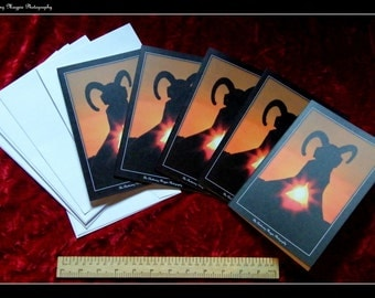 Avebury Sunset Pack of Five Blank Greeting Cards