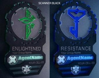 Scanner: Ingress Agent Badge (Custom Name, Data, Avatar)