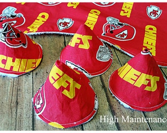 Kansas City Chiefs burp cloth, Pee-pee tee-pees, Babyshower gift idea, Expecting dad gift, Sprinkle tents, Set of burp clothes, Pee covers