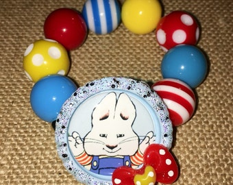 Inspired Max and Ruby Chunky Beaded Bracelet