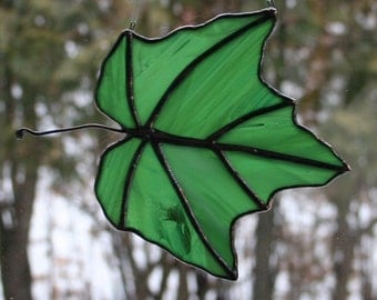 Stained Glass Maple Leaf #3