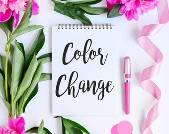 COLOR CHANGE - Add On - Customize Any Print in my Shop