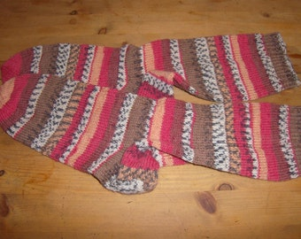 mottled hand-knitted socks Gr. 42-43