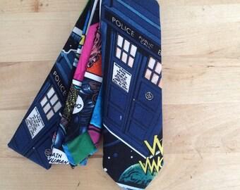 Doctor Who tardis comic skinny tie
