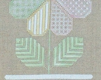 Patchwork Flower PDF Chart by Northern Expressions Needlework