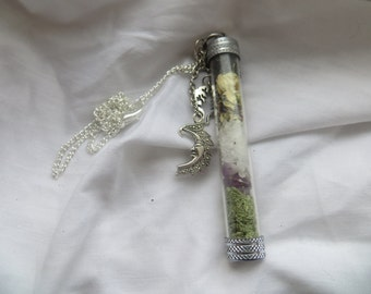 SALE! witch bottle, vial necklace amulet