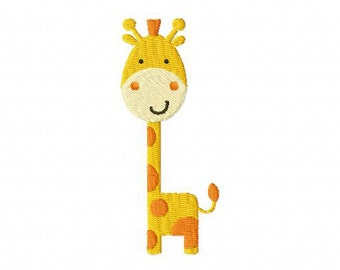 Baby Giraffe Embroidery Design Multiple Formats Available - Instant Download