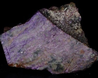Beautiful Purple Chatoyant Charoite Slab