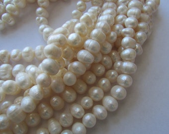AA Grade White Potato Fresh Water Pearl Strands