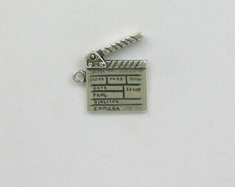Sterling Silver Movable 3-D Clapboard Charm