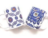 Turkish tile mug, turkey art gift, iznik art.
