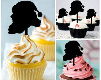 Ca467 New Arrival 10 pcs/Decorations Cupcake Topper/ santa claus /Wedding/Props/Party/Food & drink/Fun/Birthday/Shop