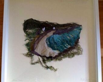 Dina cross pembrokeshire free machine embroidery textiles artwork