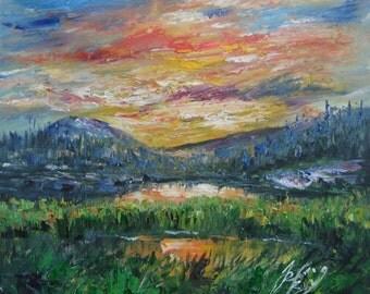 Cascade Lakes, Deschutes River, Central Oregon -Pen King -A991