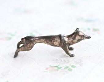 Lead Fox Figure - Art Deco Knife Rest