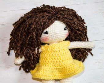 Crochet Doll Pattern Amigurumi Doll Pattern Dolly Crochet Girl Pattern Friendly Amelia Doll Amigurumi Girl