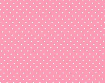 Sale 15% Off Michael Miller PinHead Rose-D/Dots/Pink/100 PercentCotton