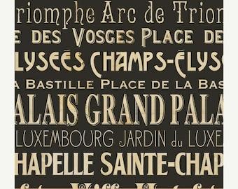 Sale 15% Off I DREAM OF Paris by Pela Studio for Wild Apple/ Windham Fabrics