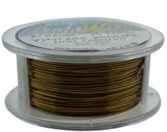 Craft Wire Tarnish Resistant Vintage Bronze Round Wire 24ga 20yd (WR6724V)