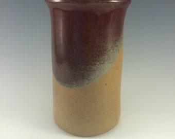 Stoneware Wine Chiller Spoon Crock in Blue & Earthtone Glazes
