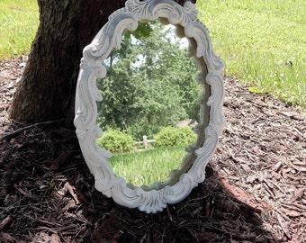 Distressed Terra Cotta Mirror