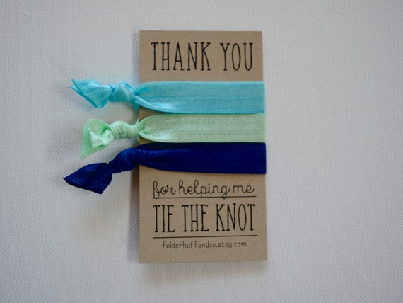 Thank You For Helping Me Tie the Knot Hair Tie Gift