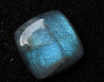 20.5 mm Square cushion Natural LABRADORITE cabochon have lots of gorgeous..... beautiful GRAY with multi blue..