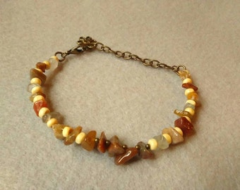 Warm Agate Beaded Bracelet