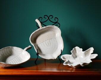 Leaf Shaped Bowls - Set of 3