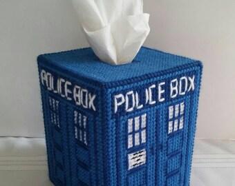 Dr Who Tardis Tissue Box Cover