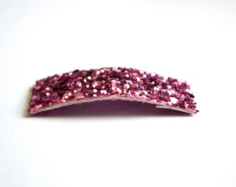 Pretty Pink Glitter SNAP Clip Bow for Baby Child Adult Holiday Spring Summer Adorable Photo Prop Darling Sparkly Clip
