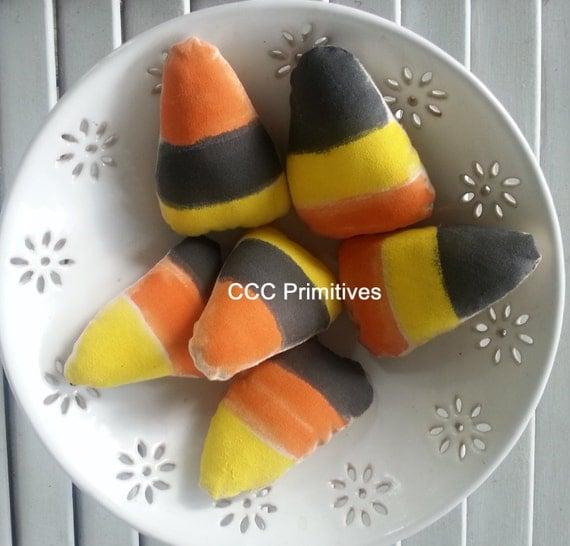 Primitive Black Candy Corn Bowl Filler - Primitive Halloween Fall Decor - Fall Candy Home Decor - Fall Candy Corn - Painted Candy Corn
