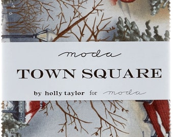 "Town Square by Moda 42 5"" Charm Pack Squares 100% Designer Cotton by Holly Taylor 6630PP"