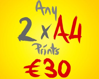 Any 2 A4 prints for 30