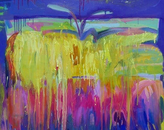 """Original oil painting -""""Screen"""" - Fine art - abstract expressionism painting"""