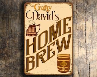 CUSTOM HOME BREW Sign, Personalized Home Brew Sign, Vintage style Home Brew Sign, Home Brew, Beer Signs, Home Bar Decor, Man Cave Decor