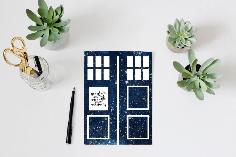 Doctor Who Quote Printable Tardis Wall Art Home Decor The