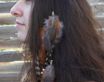 "Headband feathers ""Elki"""