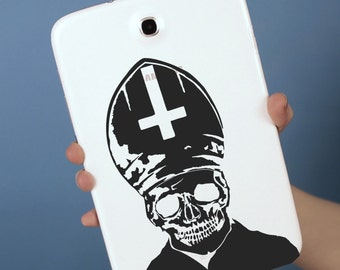Evil Pope Decal // sticker // vatican // wall decor // laptop tablet skin ipad  car graphics gothic metal AB01
