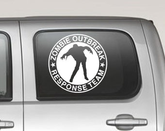 Zombie Outbreak Response Team Decal // sticker walking dead laptop tablet ipad skin wall decor AB03