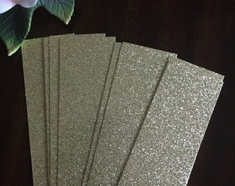 Glitter belly bands - (25), Gold glitter bands | wedding invitation bands | glitter bands