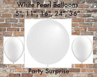 White Pearl Balloons balloons, White Wedding balloons, Shower Balloons,party balloons, Photo Balloons, pearl balloons,